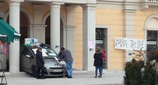 Protesta Veneto Banca