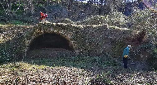 pulizia ponte romano ArcheoSusegana