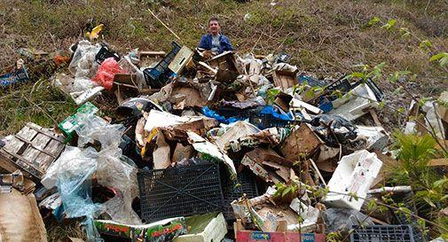 Quintali di rifiuti abbandonati in Val Lapisina