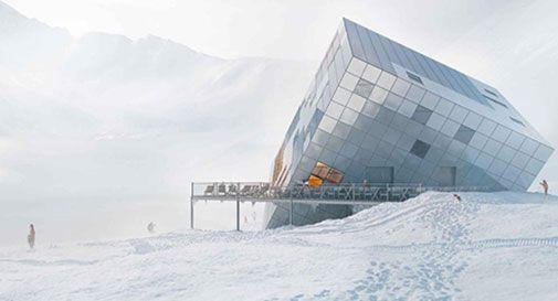Un cubo di Rubik tra le nevi