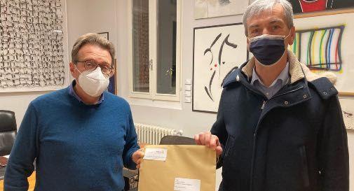 sindaco di Cappella Maggiore Vincenzo Traetta con il presidente del Club Ettore Scudeller