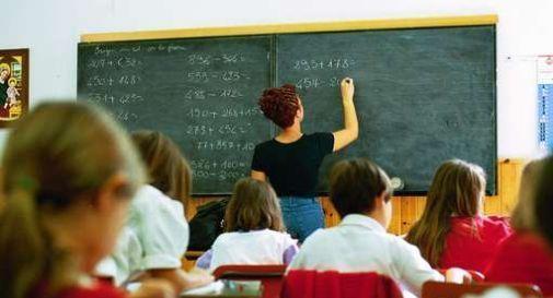 Aula scolastica con insegnante e allievi