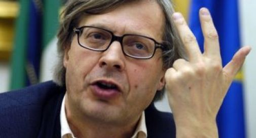 Droni e arte, Sgarbi in visita all'Ipsia Galilei