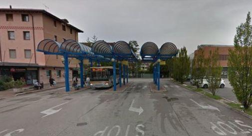 l'area della stazione delle corriere a Oderzo