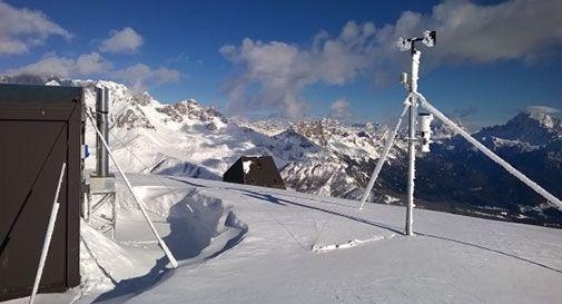 Stazione di Col Margherita sulle Dolomiti