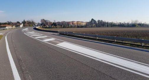 la corsia di accumulo a Ponte di Piave