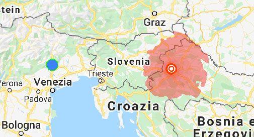 Cartina Della Slovenia E Croazia.Terremoto Nel Confine Tra Croazia E Slovenia Oggi Treviso News Il Quotidiano Con Le Notizie Di Treviso E Provincia Oggitreviso