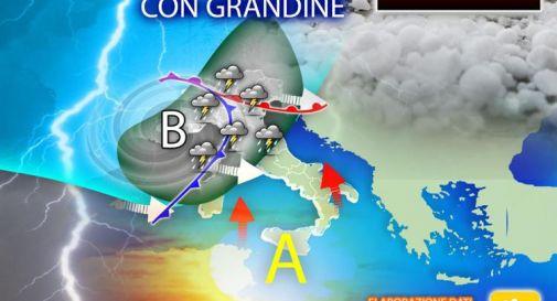 Primo maggio, rischio nubifragi e grandine: ecco dove