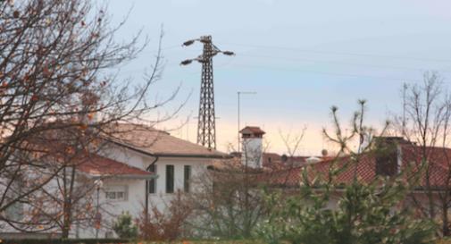 Stazione elettrica Volpago, giù 33 km di linea