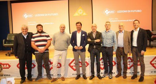 Da sinistra Zanetti, Zanusso, Bragagna, Zocca, Panetta, Lambruschini, Gigliotti, Piccin