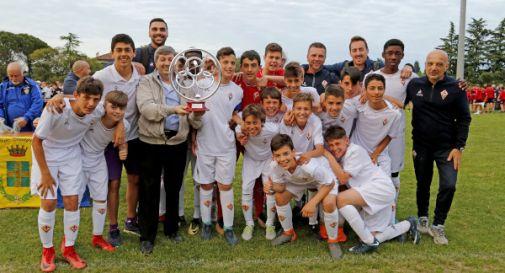 la Fiorentina vincitrice del trofeo