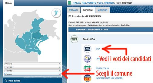 Come hanno votato i Trevigiani