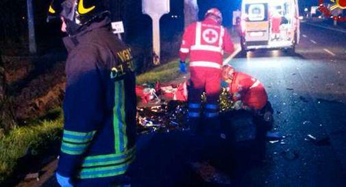 Un morto e otto feriti in un incidente nel veronese