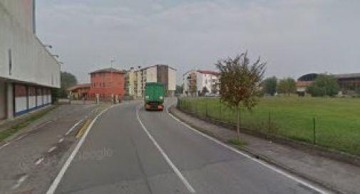 un tratto di via D'Annunzio a Biancade
