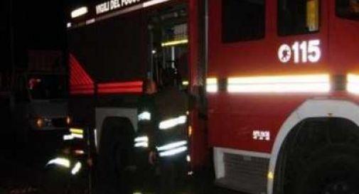 Auto a fuoco a Pagnano d'Asolo
