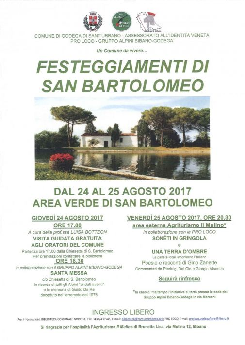 Comune Di Godega Di Sant Urbano.Festeggiamenti Di San Bartolomeo Oggi Treviso News Il